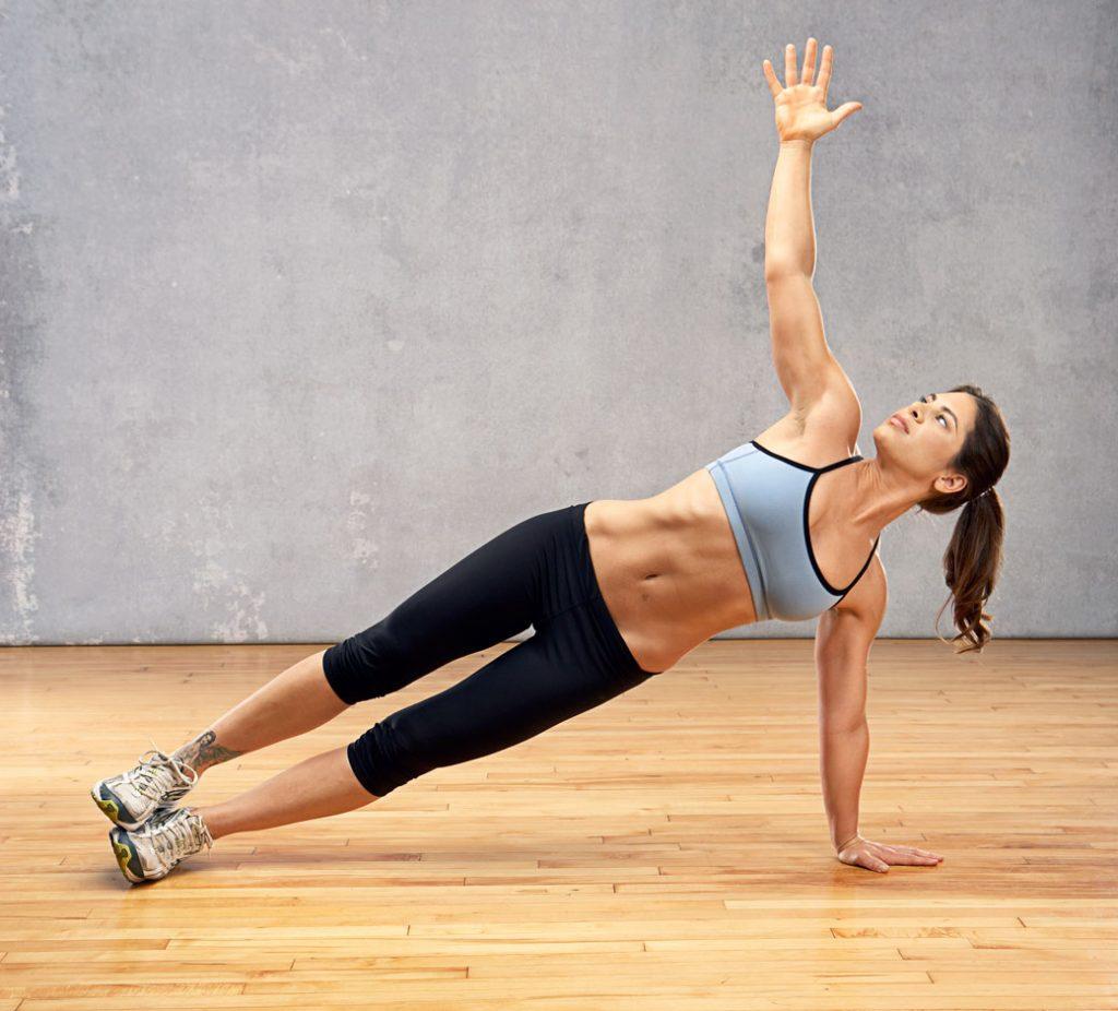 Plancha lateral para hombros sin pesas
